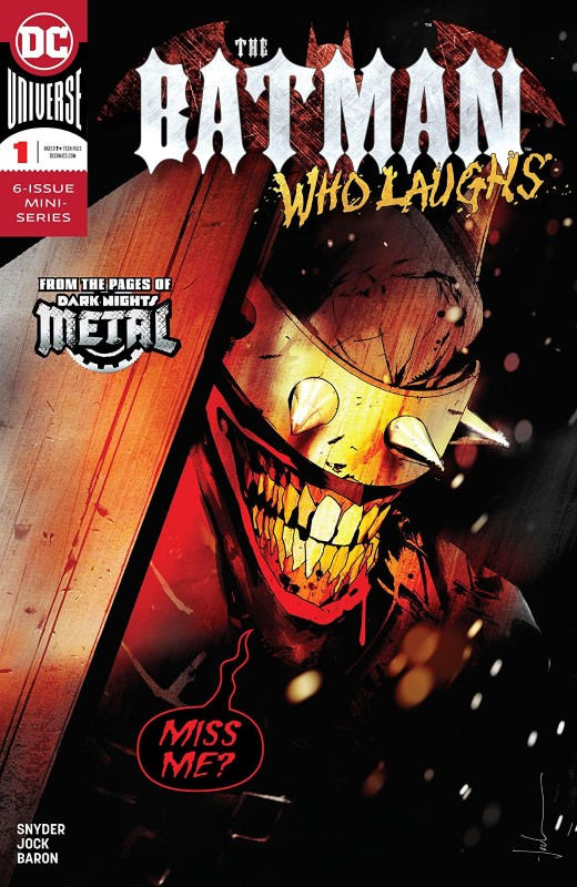 The Batman Who Laughs #1 cover by Jock